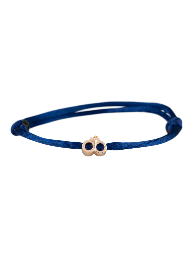 Goldbandits GoldBandits cord bracelet handcuffs rose gold