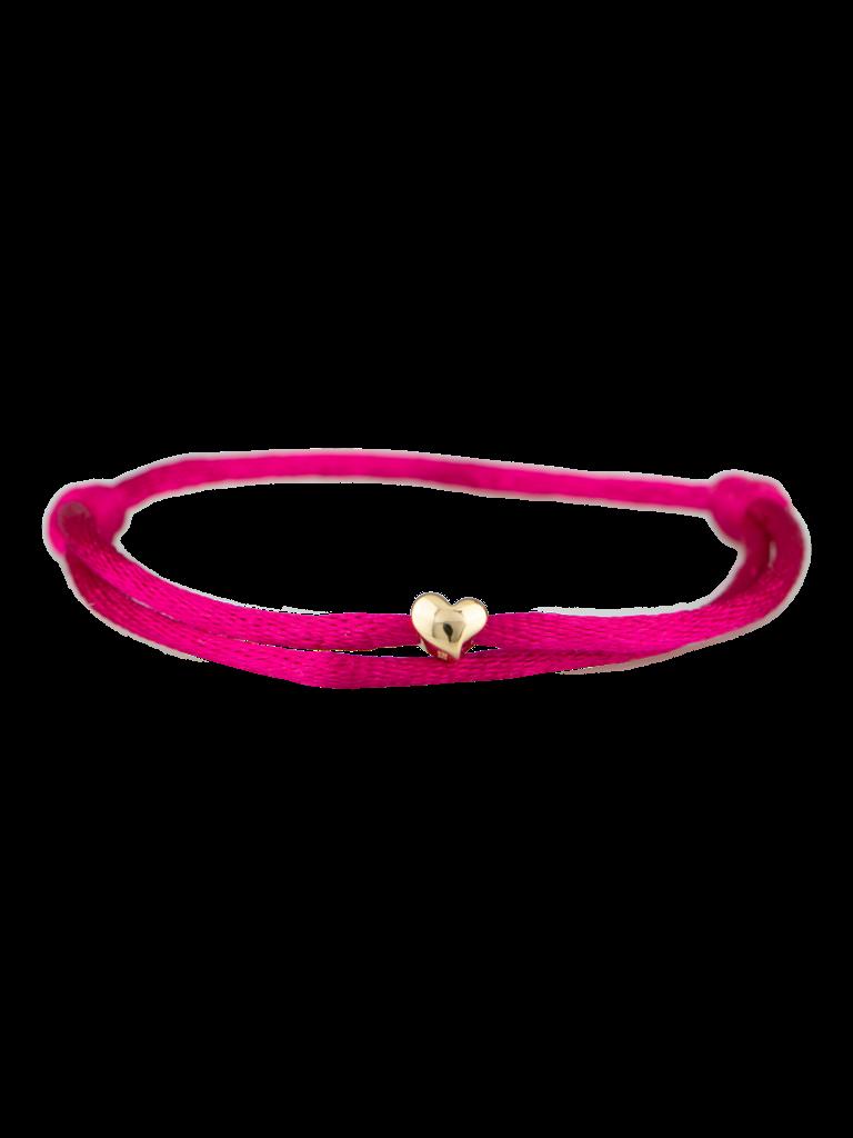 Goldbandits GoldBandits cord bracelet Heart yellow gold