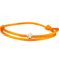 Goldbandits GoldBandits koord armband clover geelgoud