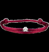 Goldbandits GoldBandits cord bracelet clover white gold