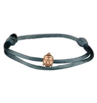 Goldbandits GoldBandits Schnur Armband Buddha Roségold