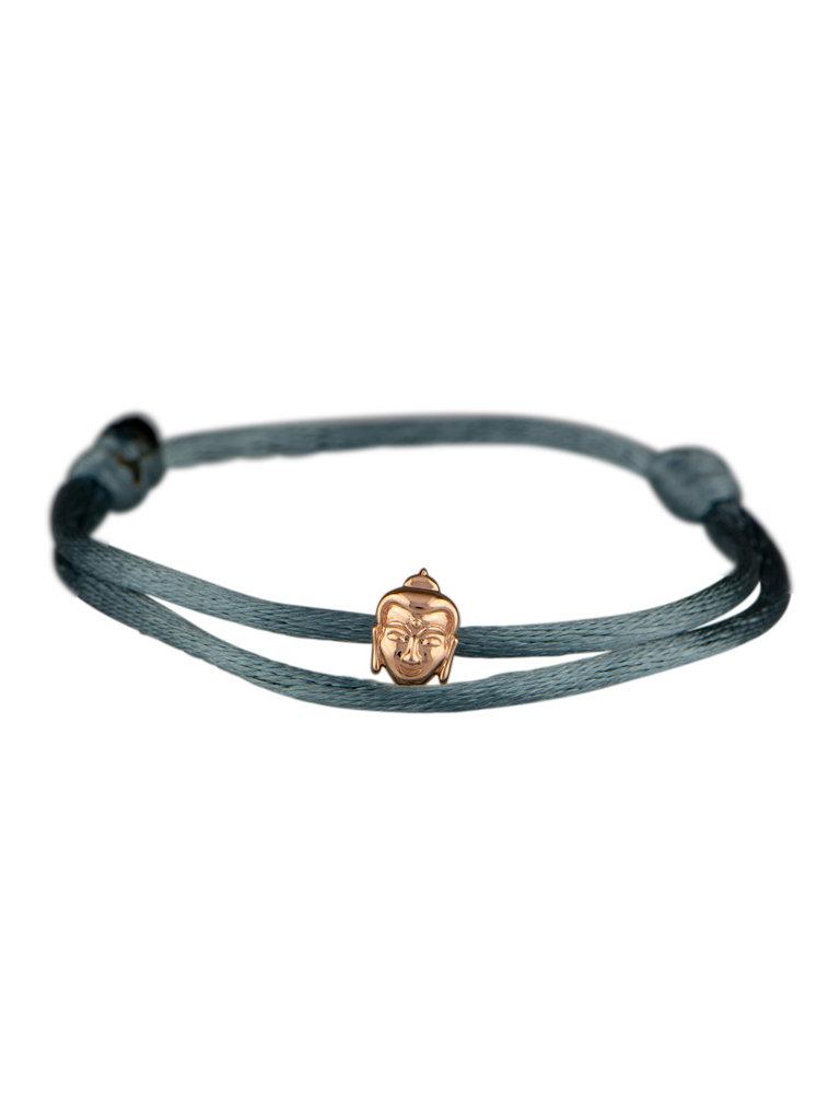Goldbandits GoldBandits koord armband buddha rosé goud