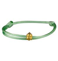 Goldbandits GoldBandits cord bracelet buddha yellow gold