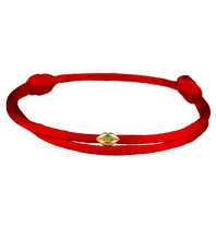 Goldbandits GoldBandits koord armband mini lips geelgoud