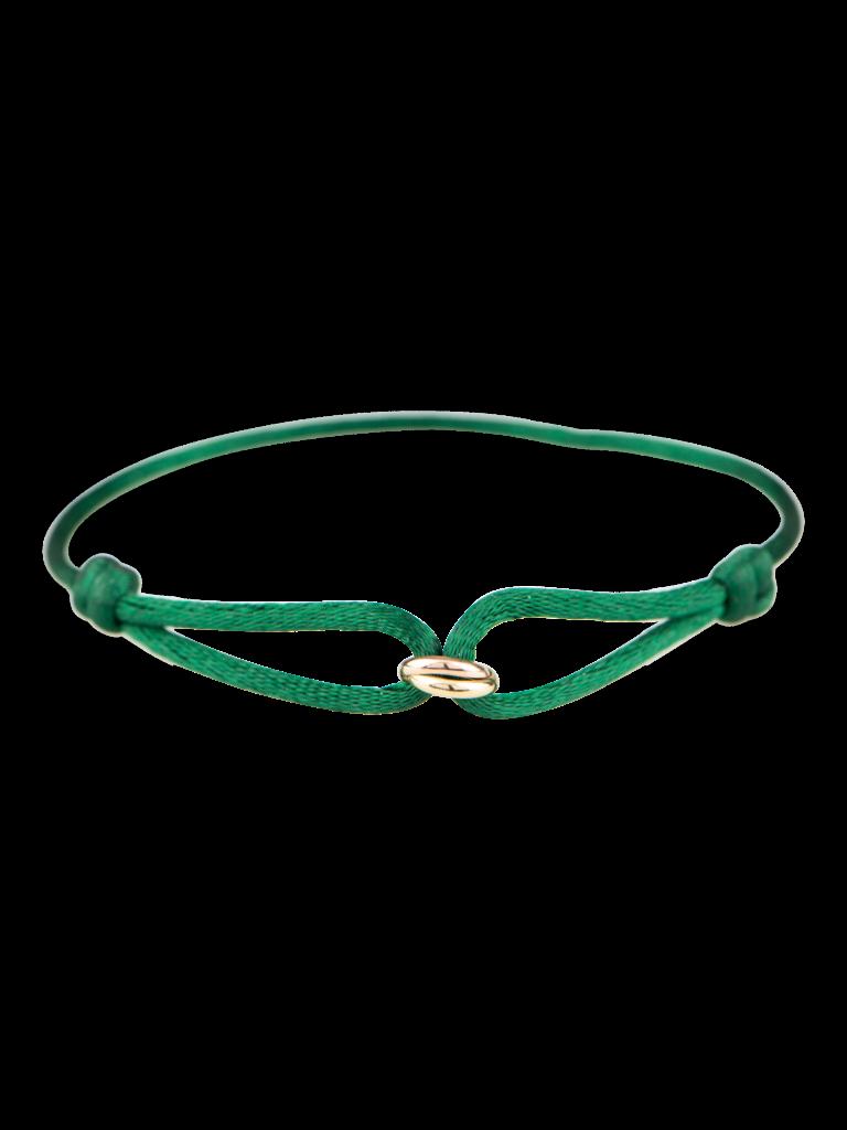 Goldbandits GoldBandits cord bracelet What comes around yellow gold rose gold