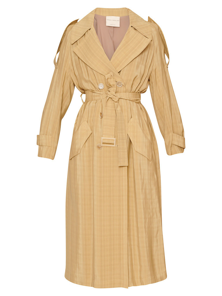 Erika Cavallini Erika Cavallini double breasted camel trench coat