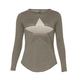 Chaser Chaser T-shirt with long sleeves and star gray