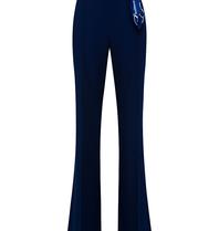 Elisabetta Franchi Elisabetta Franchi Palazzo pantalon met chain blauw