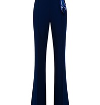 Elisabetta Franchi Elisabetta Franchi Palazzo trousers with chain blue