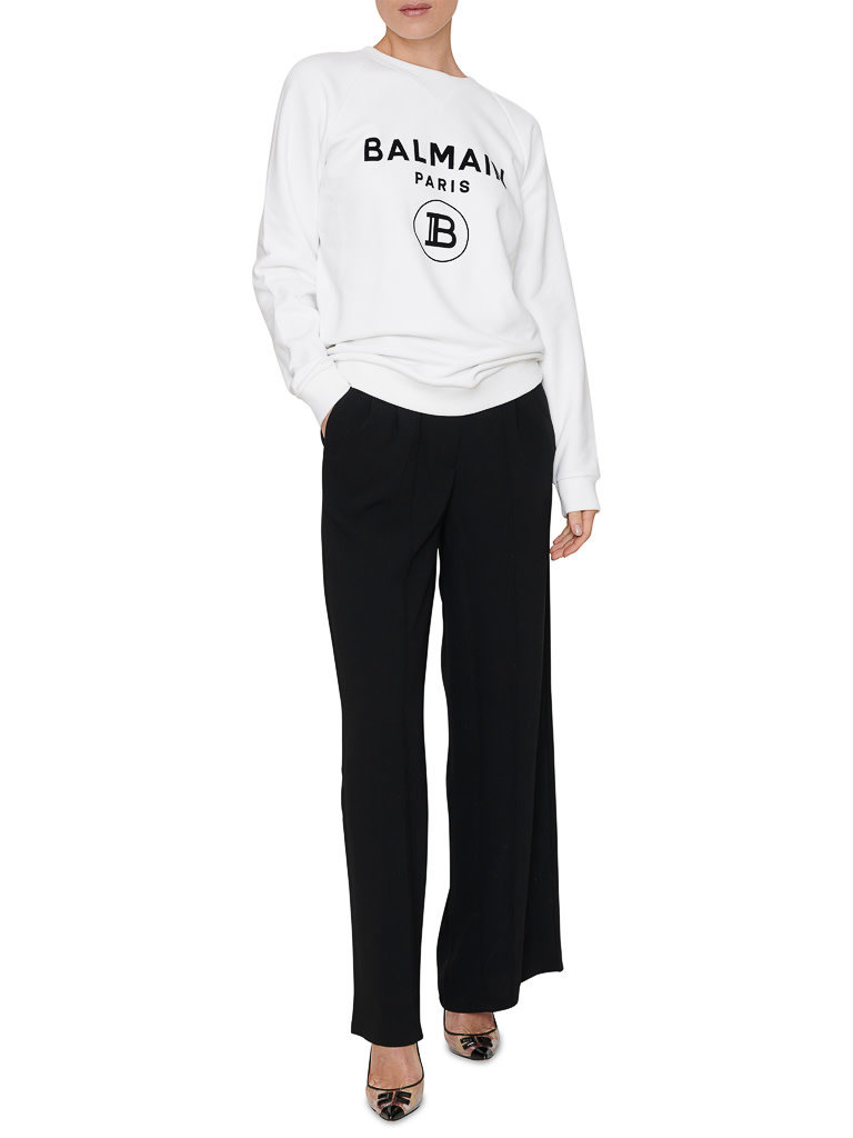 Balmain Balmain Sweater met logoprint wit