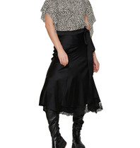Erika Cavallini Erika Cavallini top with open back and butterfly sleeves black and white