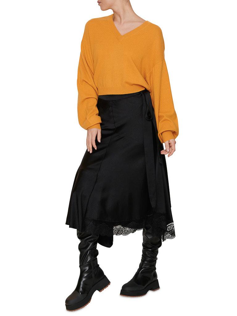 Erika Cavallini Erika Cavallini skirt with lace black