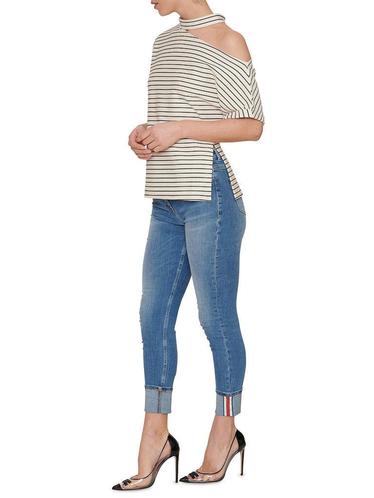 Erika Cavallini Erika Cavallini striped top blue white