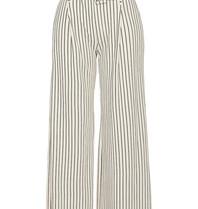 Erika Cavallini Erika Cavallini striped pants with wide legs white blue