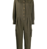 Erika Cavallini Erika Cavallini jumpsuit with buttons green