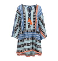 Devotion Devotion Zakar Ioanna dress with print blue orange