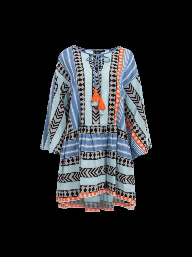 Devotion Devotion Zakar Ioanna dress with print blue orange