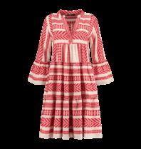 Devotion Devotion midi Ella jurk met print rood wit