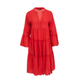 Devotion Devotion midi Ella dress red