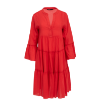 Devotion Devotion midi Ella dress red