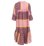 Devotion Devotion Zakar dress with print pink yellow