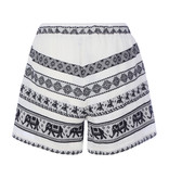 Devotion Devotion Sandra skirt with print and valance black and white