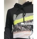 Erika Cavallini Erika Cavallini cropped sweater met opdruk zwart
