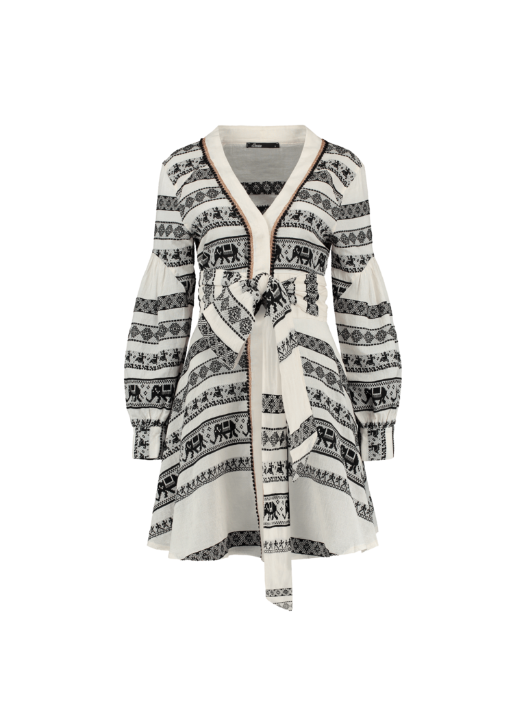 Devotion Devotion Zakar Eleni dress with print black and white