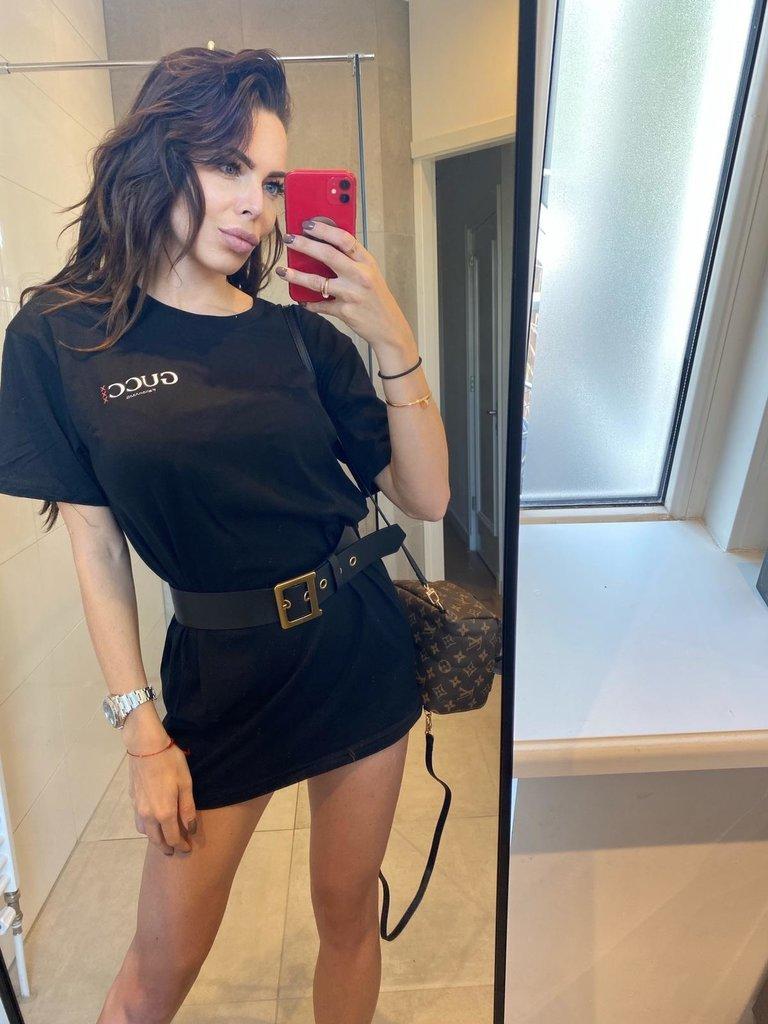 FALLON Amsterdam FALLON Amsterdam Gucci T-shirt jurk zwart