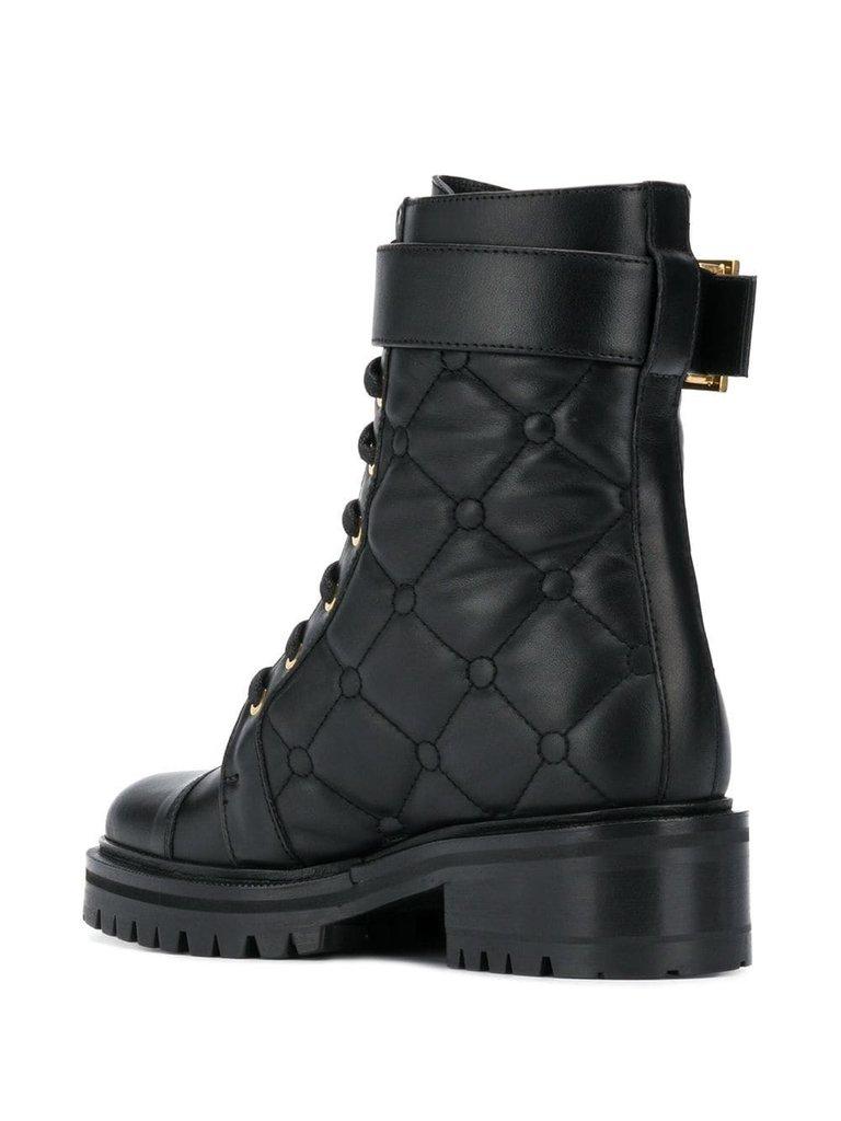 Balmain Balmain padded combat boots black