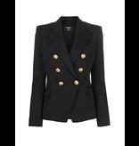 Balmain Balmain blazer with gold colored buttons in black