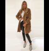 DMN Paris DMN Paris Jean Marc faux fur coat brown