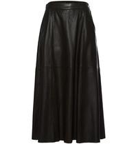 Est'seven Est'Seven leather maxi skirt black