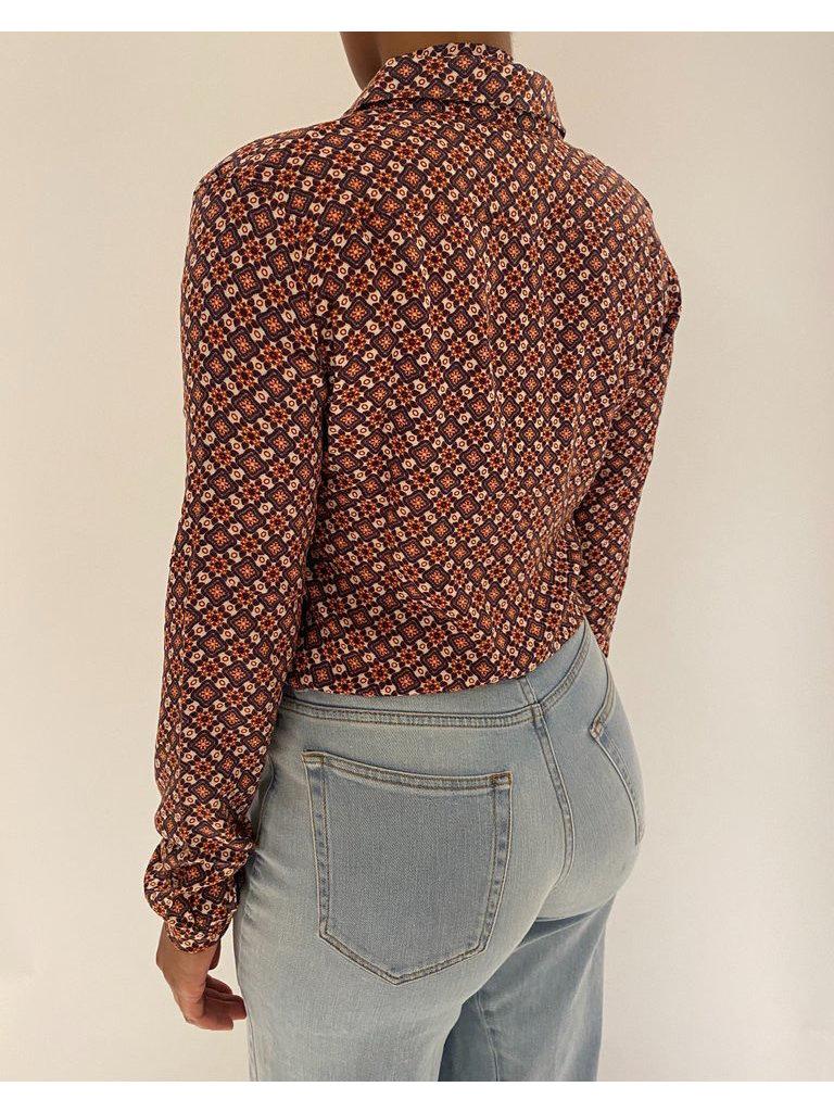 Est'seven Est'seven Ashley blouse with bow and multicolor print