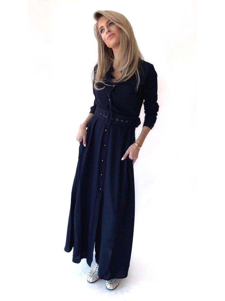Est'seven Est'Seven Long dress donkerblauw