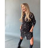 Est'seven Est'seven Paisley star print blouse black