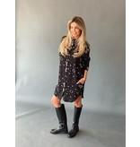 Est'seven Est'seven Paisley star print blouse zwart