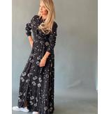 Est'seven Est'Seven Paisley Rio Maxi-Kleid mit Sternendruck schwarz
