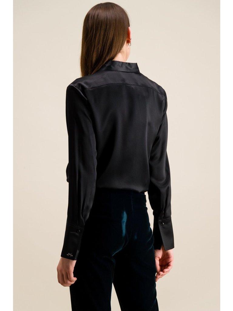 DMN Paris DMN Paris Regina zijde blouse zwart