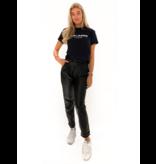 Est'seven Est'seven Fold leather pants black