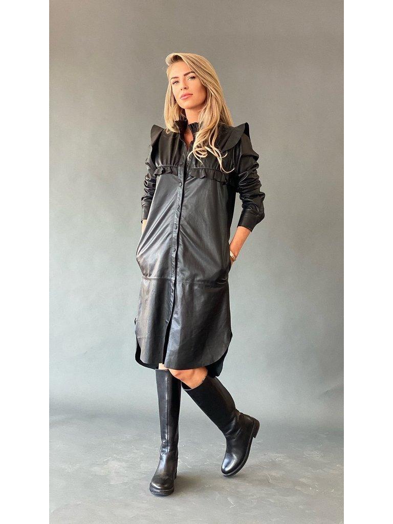 Est'seven Est'Seven Paris dress with black ruffles
