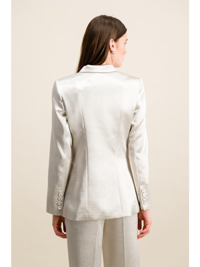 DMN Paris DMN Paris Bianca silk blazer silver