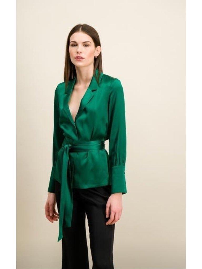 DMN Paris DMN Paris Michele silk blouse green