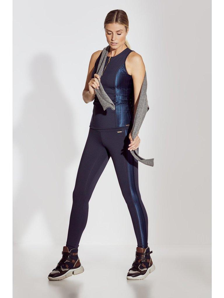 deblon sports Deblon Sports Kate Ziggy sportlegging met mesh donkerblauw