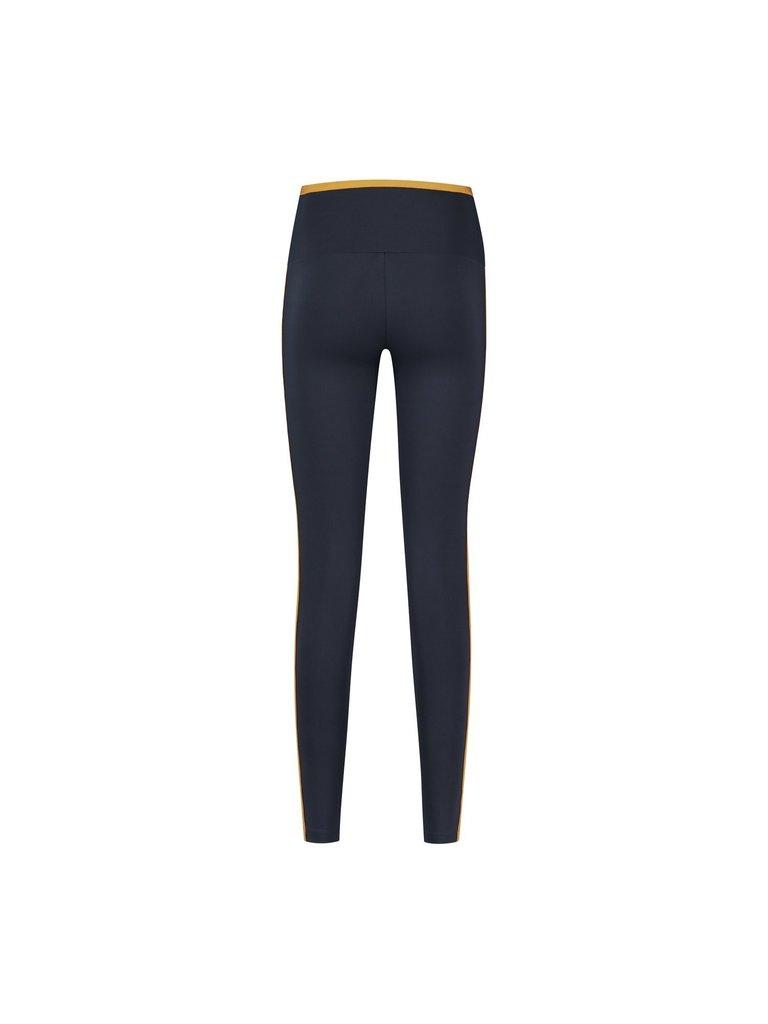 deblon sports Deblon Sports Kate sports leggings with colored piping dark blue
