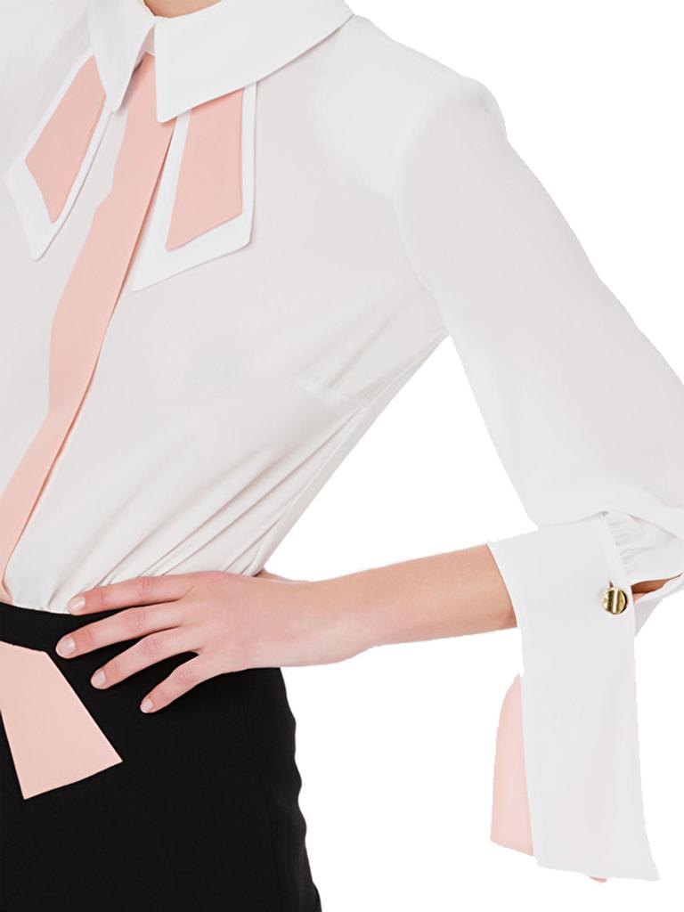 Elisabetta Franchi Zweiteiliges Kleid von Elisabetta Franchi mit weiß-schwarzen Details