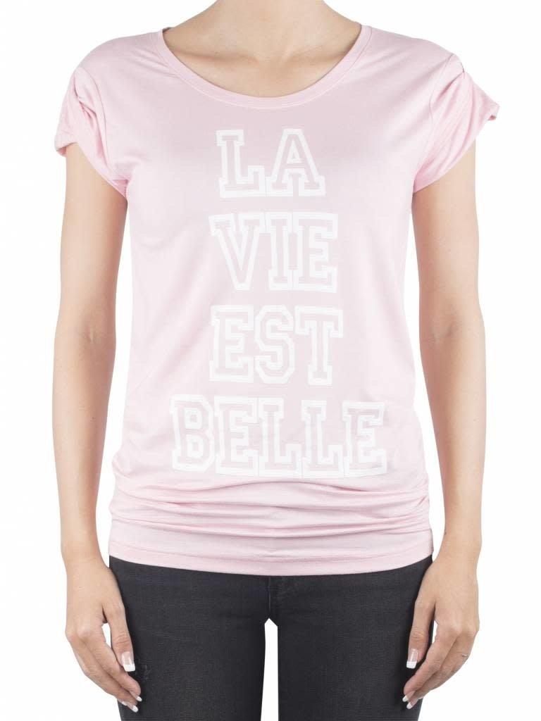 VLVT VLVT La vie est belle t-shirt roze