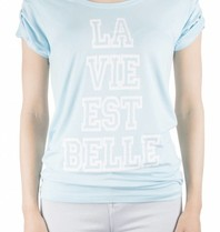 VLVT VLVT La vie est belle tee light blue
