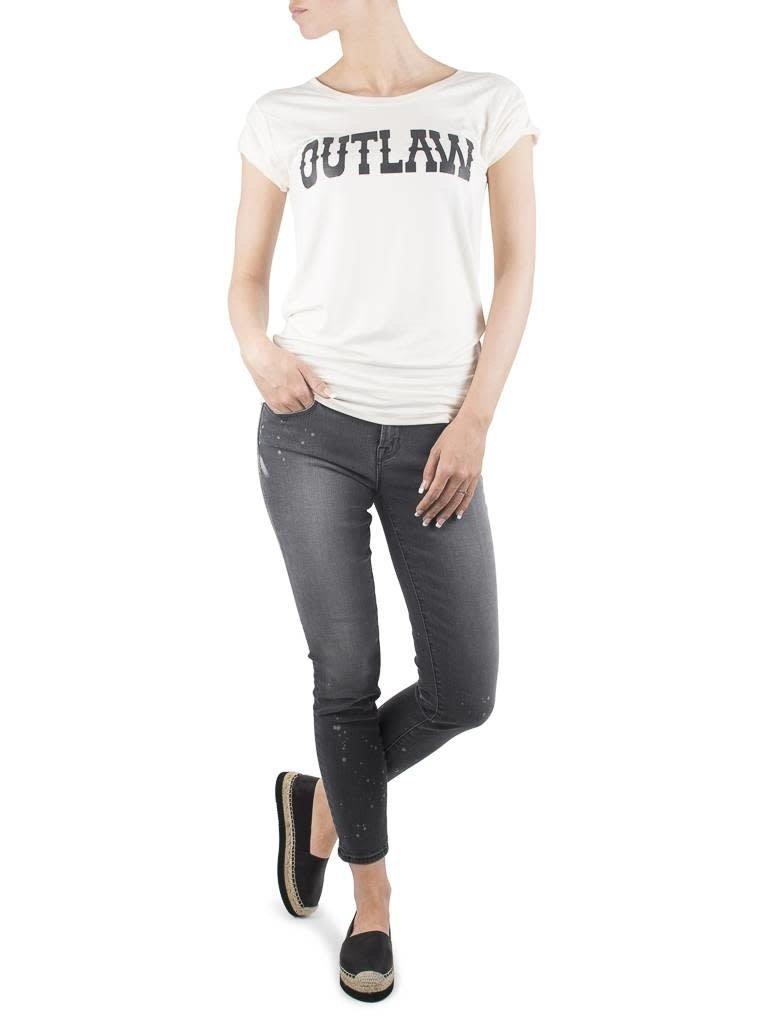 VLVT VLVT Outlaw creme T-Shirt