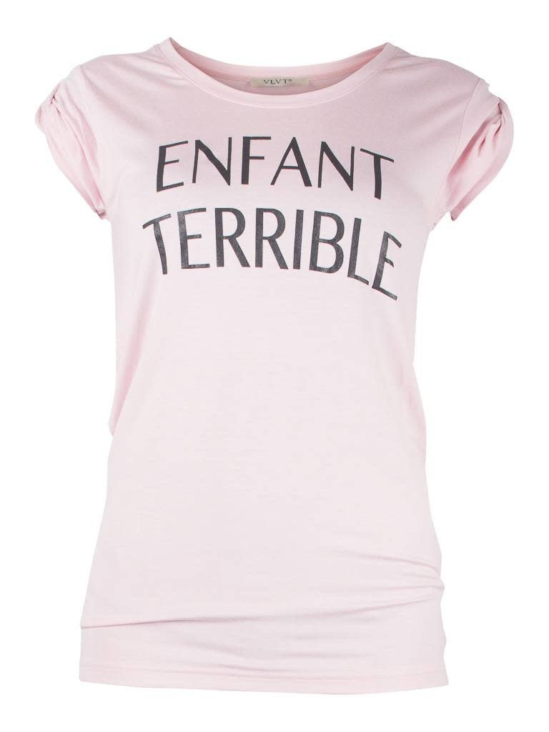 VLVT VLVT Enfant terrible T-Shirt rosa